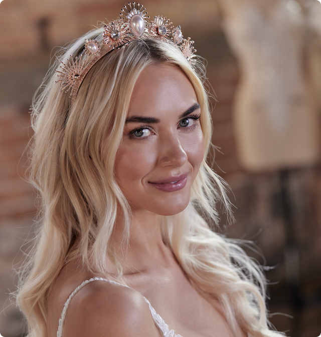 Deandra Crown Bridal Jewelry by Maggie Sottero x A'El Este