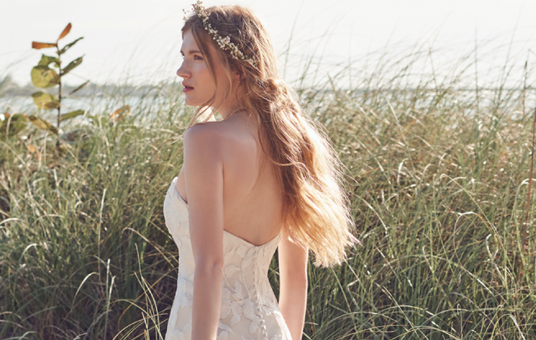 Hattie Lynette Boho style wedding gown by Rebecca Ingram