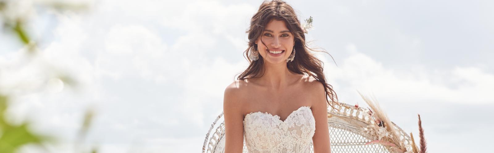 Hattie Lynette Boho style wedding gown by Rebecca Ingram
