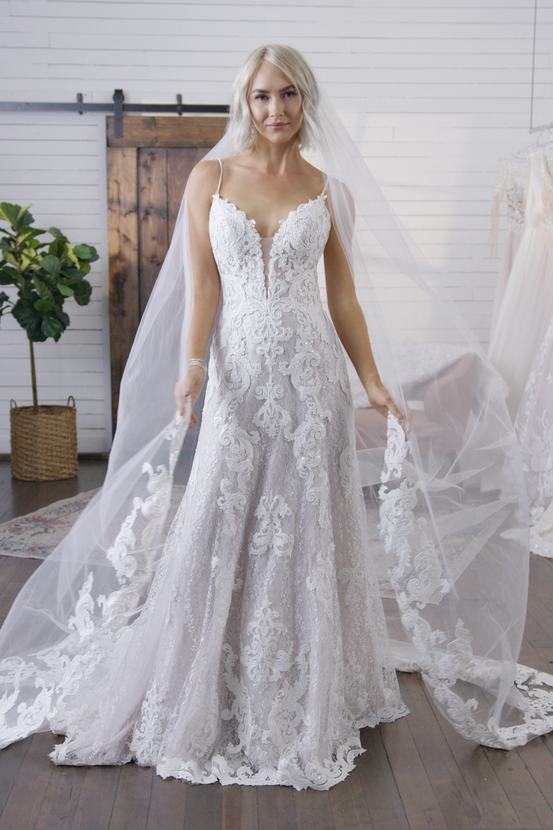 Romantic A-Line Lace Wedding Dress Tuscany Lane by Maggie Sottero