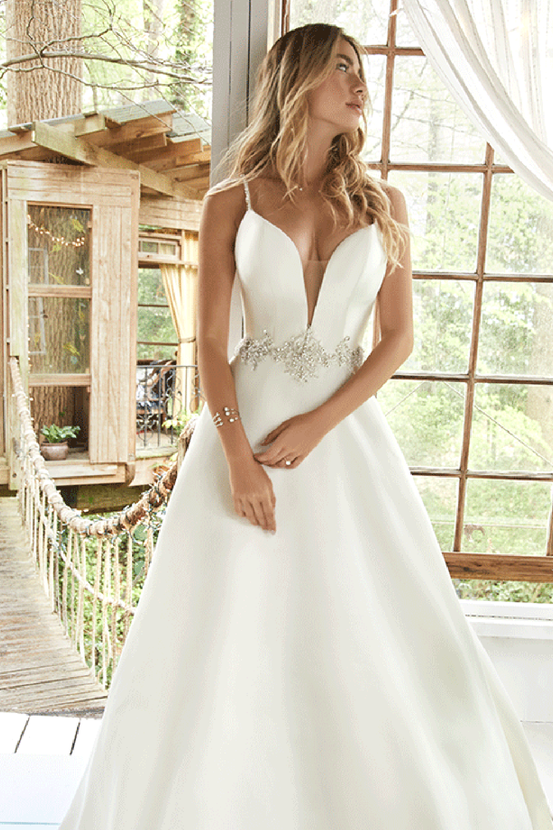 Satin Wedding Dresses by Maggie Sottero